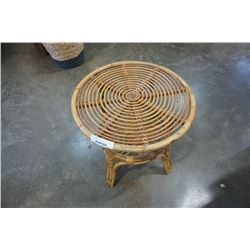 RATTAN 2 TIERED SIDE TABLE