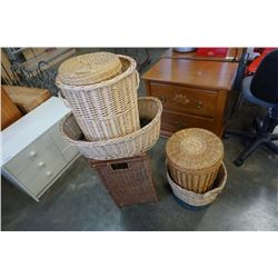 WICKER HAMPERS AND BASKETS