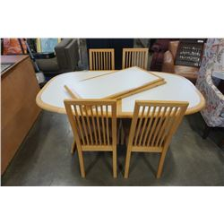 MADE IN DENMARK DINING TABLE WITH 2 LEAFS AND 4 CHAIRS