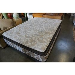 QUEENSIZE SEALY POSTUREPEDIC CROWN JEWEL PRO BACK MATTRESS AND BOX SPRING
