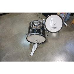 Partial kids drum set