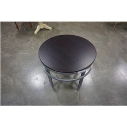 Metal base round side table