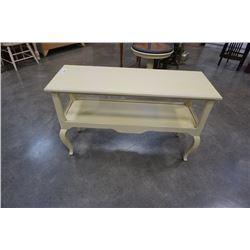 Rectangular painted sofa table