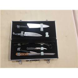 Lot of J A Henkel knives in case