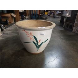 20 INCH HAND PAINTED POT