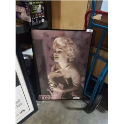 Framed marilyn monroe advert