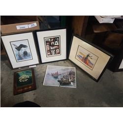 LOT OF FIRST NATIONS PRINTS, SOME SIGNED
