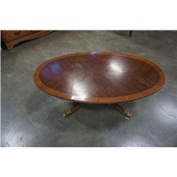 OVAL DIELCRAFT COFFEE TABLE