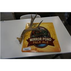 ANTLER AND MIRROR POND BREWERY SIGN