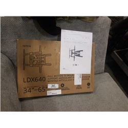 NEW OVERSTOCK KANTO LDX640 34-65 INCH FULL MOTION TV WALL MOUNT RETAIL $99.99