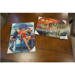 TWO NEW 3D PICTURES - MARILYN, ELVIS AND OTHERS
