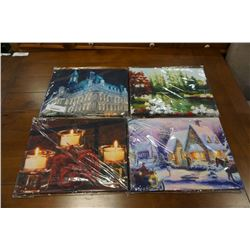 LOT OF CANVAS LIGHTED PICTURES