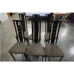 6 METAL FRAMED DINING CHAIRS