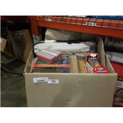 LARGE BOX OF NEW MIXING BOWLS AND ESTATE GOODS