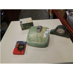 STONE CLOCK, MICRONTA STOPWATCH, SOLAR 2 SLIDE VIEWER AND COUNSELOR SCALE