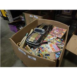LARGE BOX OF ARCHIE COMICS AND MUSTANG
