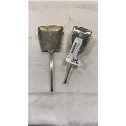 STERLING SILVER VANITY SET - MIRROR AND BRUSH