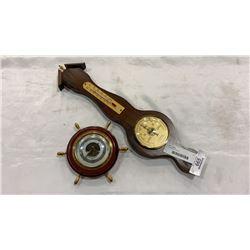 2 vintage barometers