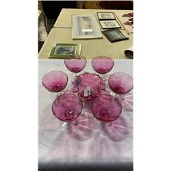 Lot of ruby glass