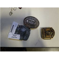 3 NOVELTY BELT BUCKLES - CAPTAIN MORGANS AND JACK DANIELS