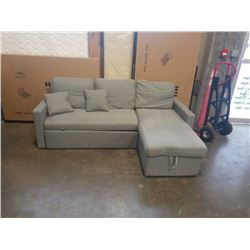 ZERA PULL OUT STORAGE SECTIONAL - SHIPPING DAMAGED