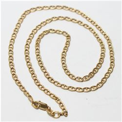 """14K Yellow Gold Anchor Link 18 1/2"""" Chain with Lobster Clasp.  Total weight of 4.67 grams."""