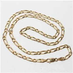 """14K Yellow Gold Figaro Link 18 1/2"""" Chain with Lobster Clasp. Total weight of 12.42 grams."""