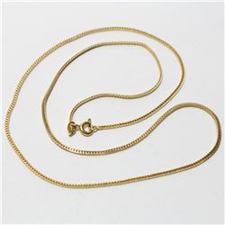"""18K Yellow Gold 18"""" Snake Chain with Spring Ring Clasp.  Total weight of 4.57 grams."""