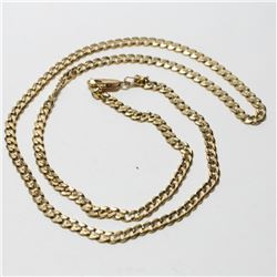 """10K Yellow Gold Curb Link Chain with Lobster Clasp.  Chain measures 20"""" in length with a total weigh"""