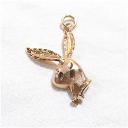 10K Yellow Gold Bunny Pedant.  Total weight of 2.3 grams.