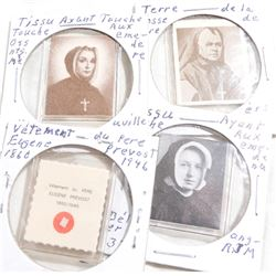 Estate Lot Vintage Catholic Nun Mother Pocket Relics.  You will receive 4 different Relics in this c