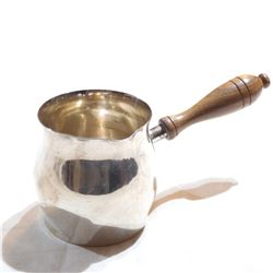 Vintage Wallace Sterling Silver Brandy Toddy Warmer with wooden handle.  Total weight of 109.81 gram