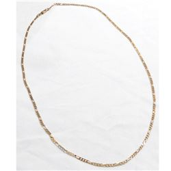 "18K Yellow Gold 2mm Figaro Link Chain with Lobster Clasp. Measures 20"" in length. Total weight of 6."