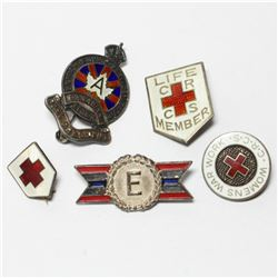 Antique/Vintage Sterling Silver & Enameled Pin Collection.  In this collection you will receive 3 Re