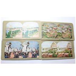 Lot of 4 St. Louis World's Fair Stereoscope Cards. You will receive 4 Different Cards in this lot de