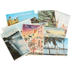 Estate Lot Souvenir Postcard Lot from Early to Mid 20th Century. You will receive 11 postcards in th