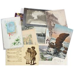 Estate Lot 1901-1918 Postcard Lot. You will receive a variety of Postcards with postal stamps dating