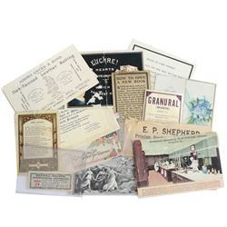 Estate Lot of Antique Ephemera. In this collection you will receive Advertisements, Greeting Cards,