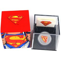 2013 Canada $20 Superman Shield Fine Silver Coins (Tax Exempt). Coin comes with all original mint pa