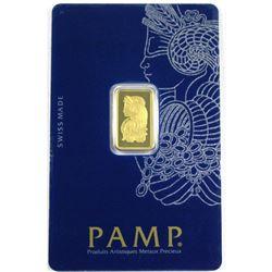 PAMP Suisse 2.5 Gram .9999 Fine Gold Bar in Sealed Plastic (TAX Exempt)