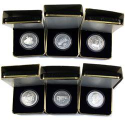 1982-1986 & 1988 Stratford Festival .999 fine silver medallions ( Tax Exempt). 6pcs