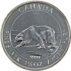 2013 Canada $8 1.5oz .999 Silver Polar Bear Round (Tax Exempt) Toned