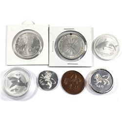 7x Fractional Silver and copper rounds (Tax Exempt).lot includes: 2014 Australia Great white