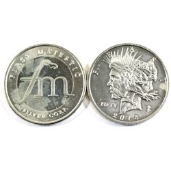 2018 Zombucks &  First Majestic 1oz .999 fine silver rounds (Tax Exempt). Coins are toned. 2pcs