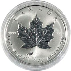 1998 Canada Royal Canadian Mounted Police (RCMP) Privy Mark 1oz. Silver Maple Leaf Set (TAX Exempt)