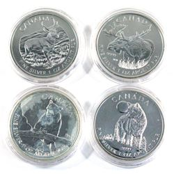 2011,2012 & 2013 Canada wildlife series 1oz .9999 fine silver coins ( Tax Exempt). Coin include 2011