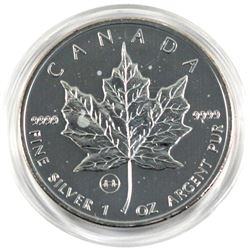 2009 Canada $5 1oz Silver Maple leaf with London's tower bridge privy ( Tax Exempt)