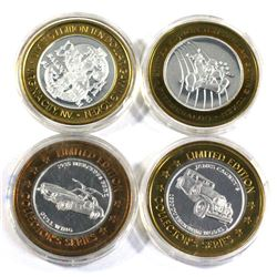 Lot of 4x Las Vegas .999 Fine Silver $10 Casino Tokens in Capsules. You receive the 2x imperial pala