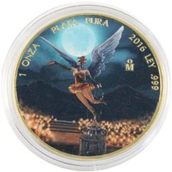 2016 Mexico 1oz Coloured & Gilded .999 Fine Silver Libertad in Capsule. (TAX Exempt)