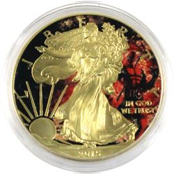 2015 USA 1oz  Dead Pool Gold plated  & Coloured .999 Fine Silver Eagle in Capsule. (TAX Exempt)